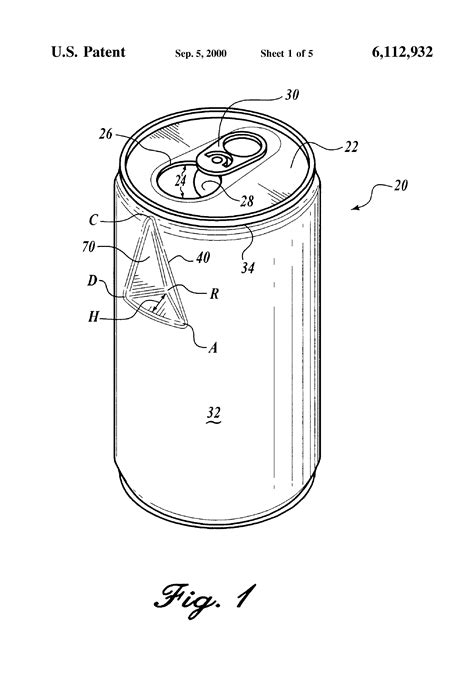 Dimensions Of A by Patent Us6112932 Beverage Can With Flow Enhancing