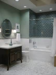 glass subway tile bathroom ideas bathroom