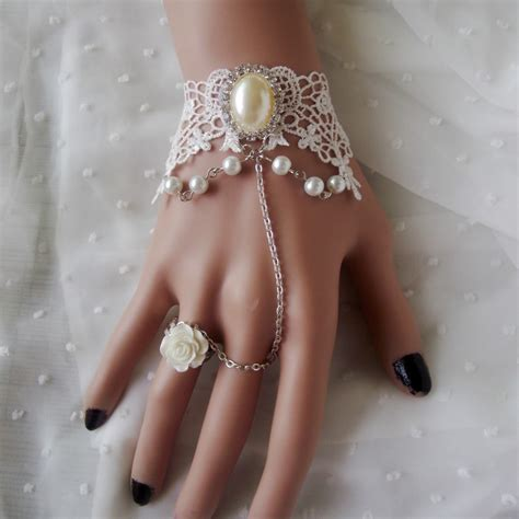 Handmade Chokers - wedding jewelry handmade unique white lace