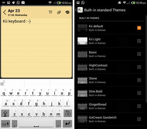 themes for kii keyboard kii free android keyboard with swype emoji themes