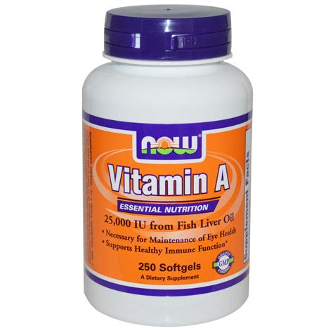 vitamin o supplement now foods vitamin a 25 000 iu 250 softgels iherb