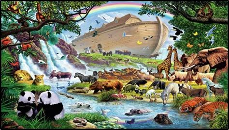 True Bible Teaching God S Purpose Bible Truth Eternal Life Noah S Ark While Animals Are Going To The Ark Drawing With Color