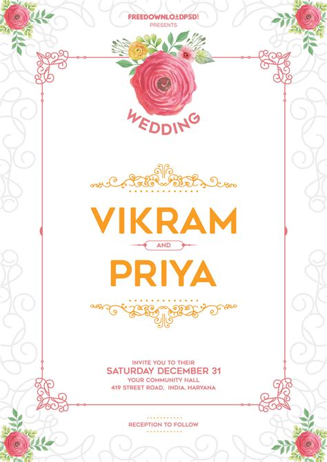 wedding invitation template download freedownloadpsd com