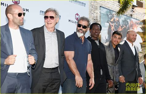 terry crews vin diesel movie jason statham steps out for star studded expendables 3