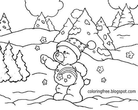 Snow Landscape Coloring Page | free coloring pages printable pictures to color kids