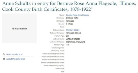 Cook County Birth Records Bernice La Buda