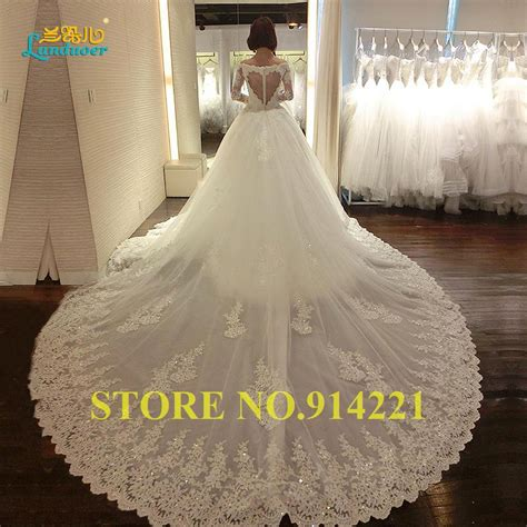 Plus Size Lace Wedding Dresses With Cathedral by Luxury Cathedral Wedding Dresses 2016 Appliques