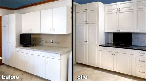 resurfaced kitchen cabinets before and after pin by jennifer brock on kitchen cabinet resurfacing and