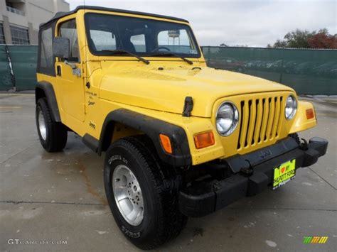 solar yellow 2000 jeep wrangler sport 4x4 exterior photo 57472324 gtcarlot