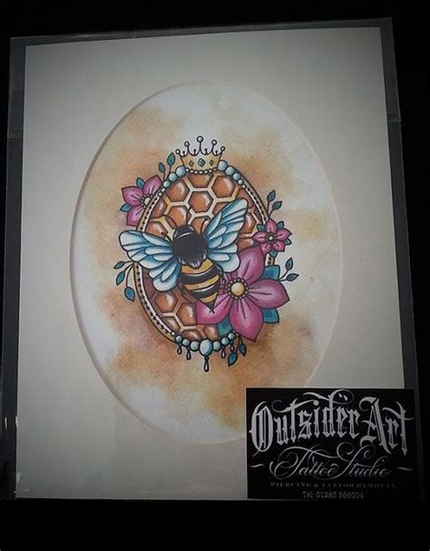 tattoo queen print bumble bee queen bee art print tattoo inspired by