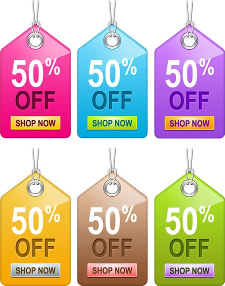 6 editable sale tag templates