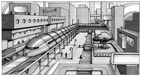 2 Point Perspective Drawing Cityscape by A Cityscape For Class By Theartfulmegalodon On Deviantart