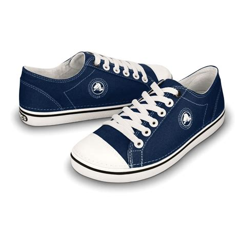 Crocs Hover Canvas Blue Navy Low crocs womens hover lace up navy white light weight canvas