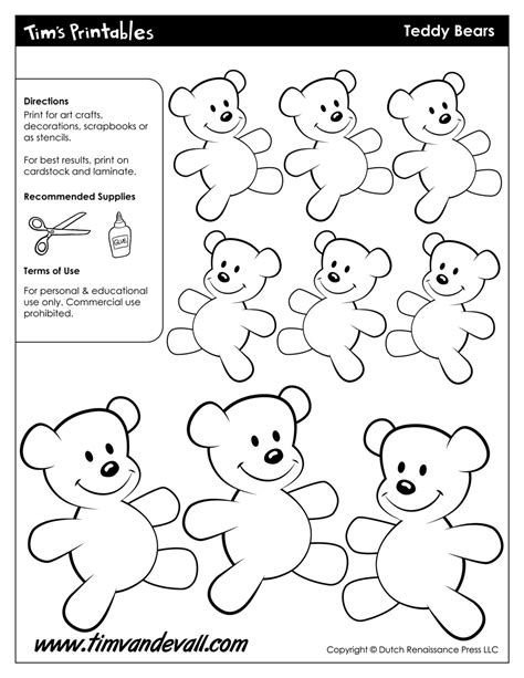 teddy template to print teddy templates tim s printables
