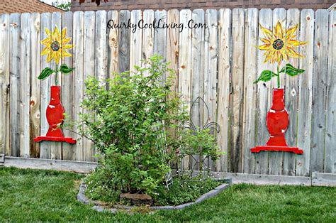Painting Backyard Fence by Hometalk Sunflower Fence Using Repurposed Table