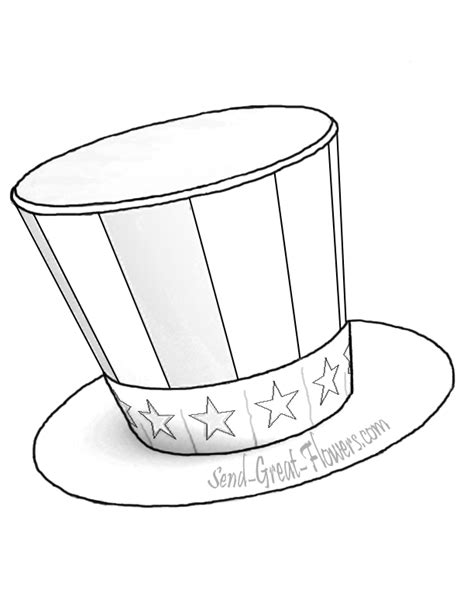 4th of july hat coloring pages getcoloringpages com