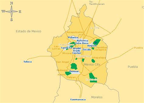 map of mexico city area mexico city map