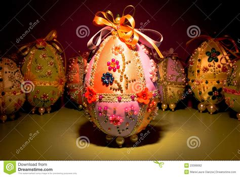 handmade easter eggs stock photography image 23399062