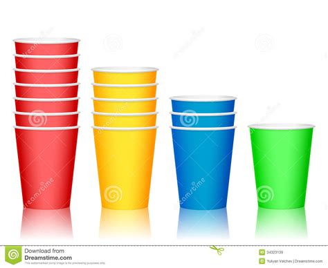 color cup plastic cups royalty free stock images image 34323139
