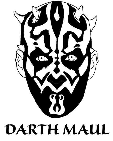 darth maul paint template darth maul lineart blackened by rcknp on deviantart