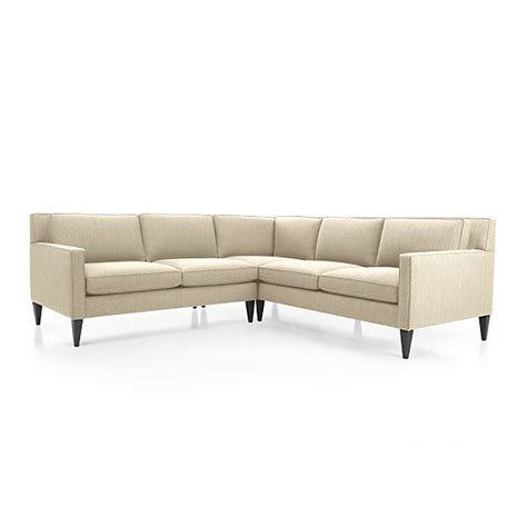 crate and barrel rochelle apartment sofa rochelle 2 piece sectional sofa desert crate and barrel
