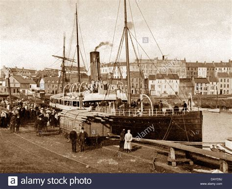boat show glasgow portrush harbour the glasgow boat early 1900s stock photo