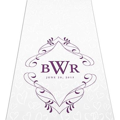 Wedding Aisle Runner Monogram by Flourish Monogram Personalized Aisle Runner Weddingstar