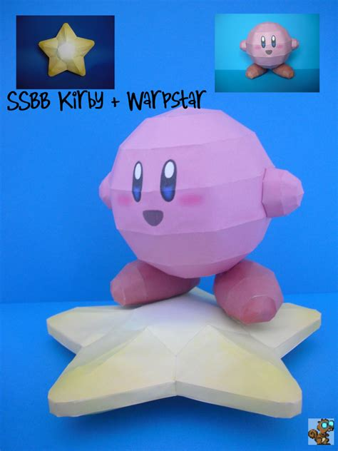 Kirby Papercraft - sabidiet s papercrafts ssbb kirby warpstar
