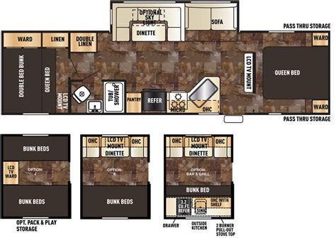 forest river floor plans new 2016 forest river cherokee 284bf travel trailer for