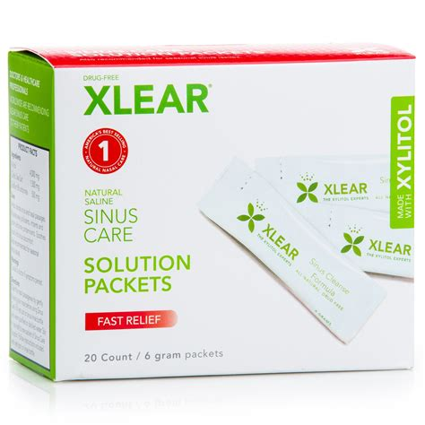 Sinus Care xlear sinus care solution packets fast relief 20 count