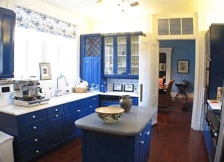 blue kitchen design very best seven colors for kitchen decor woo
