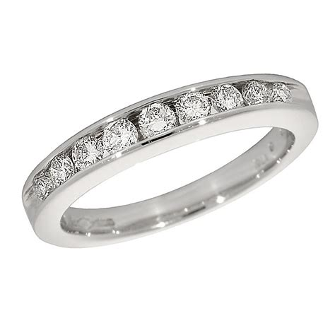 platinum half carat half eternity ring ernest jones