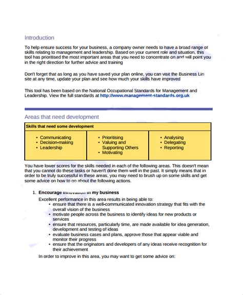 template for personal business plan sle business development plan template 6 free