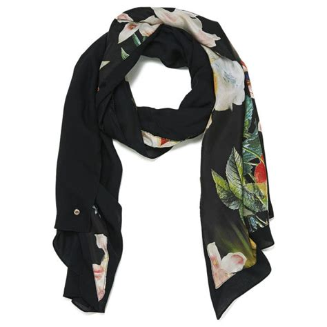 ted baker opulent bloom split scarf black