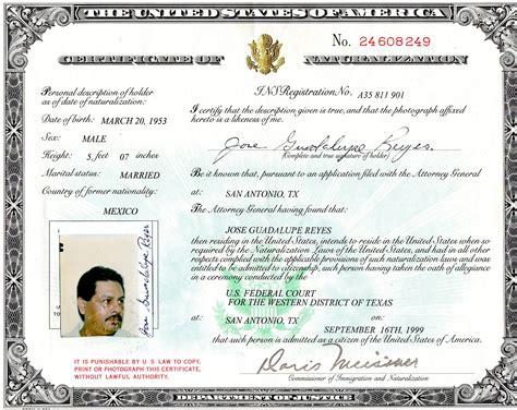 certificado de ciudadania americana naturalization certificate number on passport www imgkid