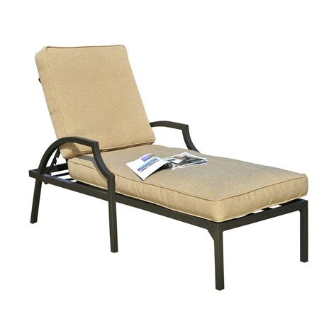 sunjoy patio furniture sunjoy pine ridge patio lounge chair with beige cushion l