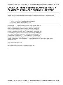 exles of written cover letters how to make a resume and cover letter education