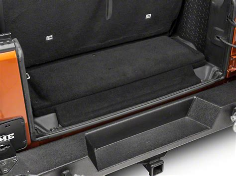 cargo mat for jeep wrangler unlimited with subwoofer jl audio jeep wrangler stealthbox subwoofer w cargo area