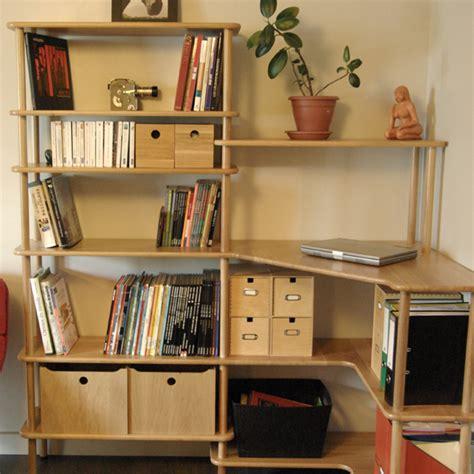 bureau d angle avec 騁ag鑽es espace de travail modulable modulotheque com