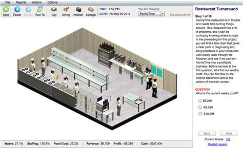 restaurant layout design sle interactive online restaurant management sim for college