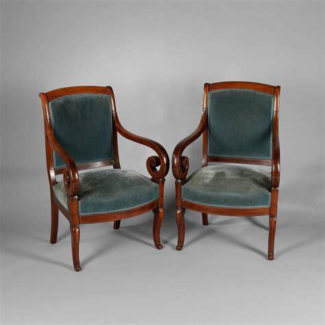 canapé ancien louis philippe paire de fauteuils en acajou et incrustations de filets de