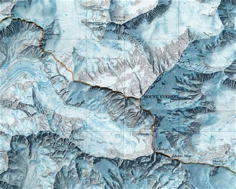 mt everest map mount everest map mt everest nepal mappery