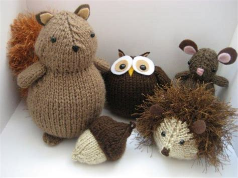 knitting patterns of animals you to see woodland animals knit pattern set by