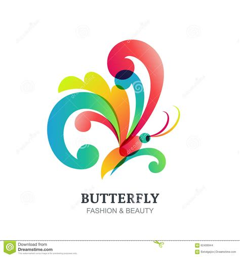 colorful butterfly logo vector illustration of colorful transparent butterfly