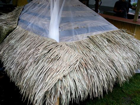 tiki hut thatch roofing how to build a tiki bar how tos diy