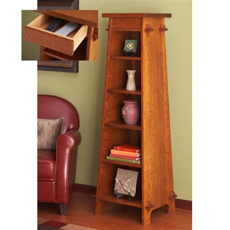 solid oak tapered display tower woodworking plan  wood