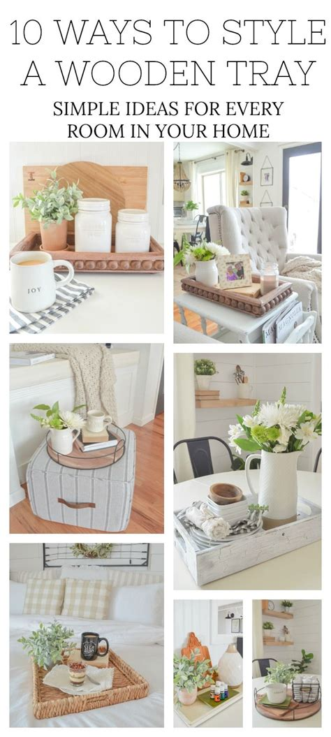 ways  style  wooden tray simple ideas