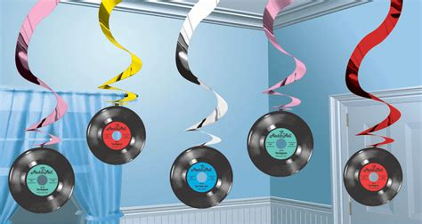 rock and roll theme decorations rock and roll discs swirls savers decorations