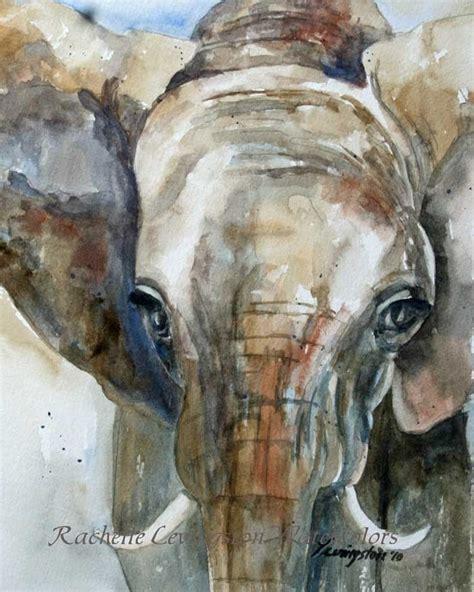 painting elephant large elephant print africa home decor 11 x14