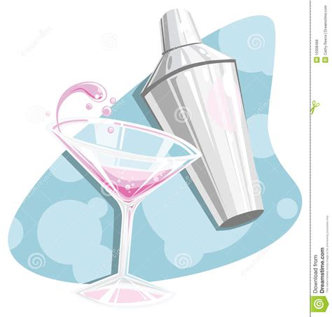 martini shaker clipart retro martini and shaker stock vector illustration of